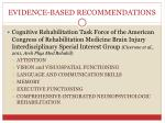 evidence based recommendations