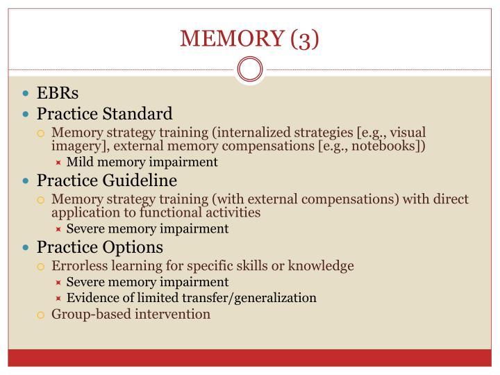 MEMORY (3)
