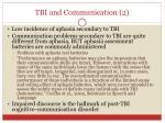 tbi and communication 2