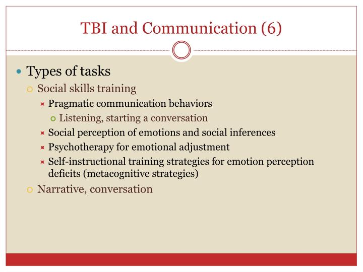 TBI and Communication
