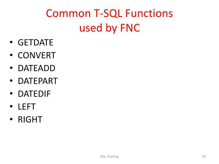 Common T-SQL