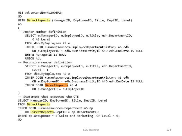 SQL-Training