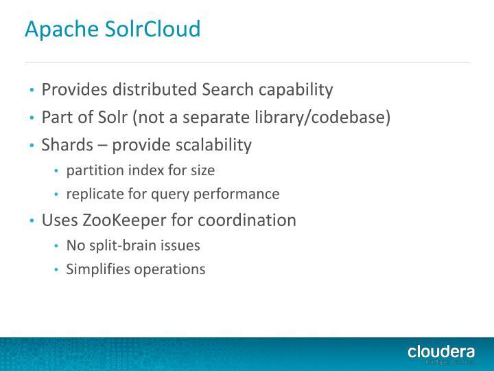Apache SolrCloud