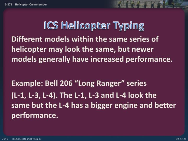 ICS Helicopter Typing
