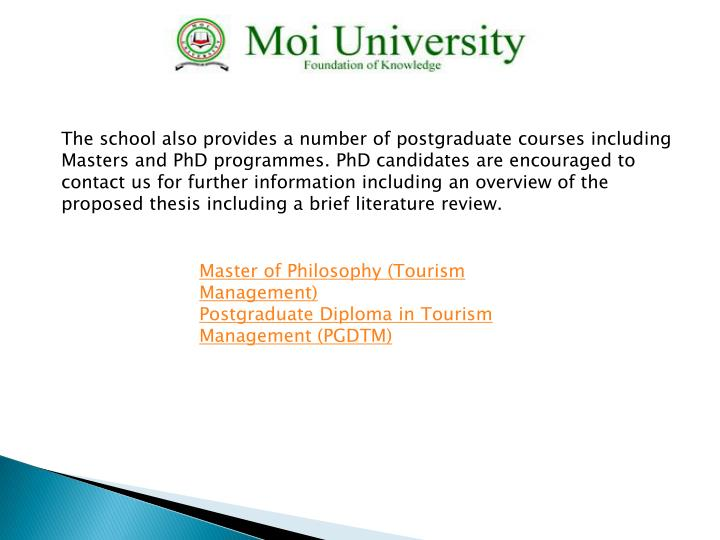 The school also provides a number of postgraduate courses including Masters and PhD
