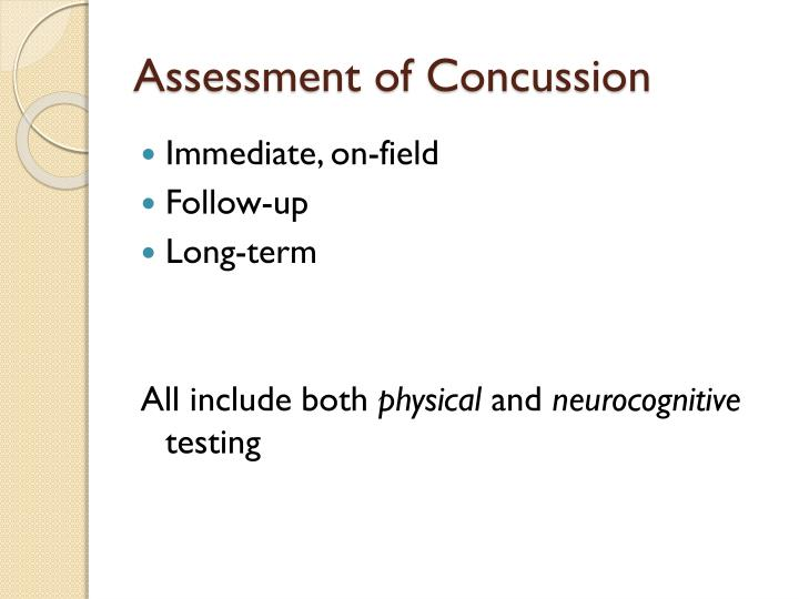 Assessment of Concussion