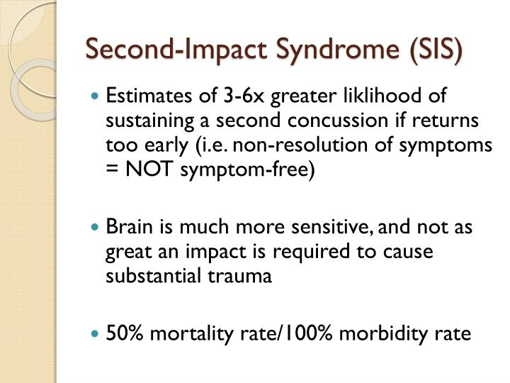 Second-Impact Syndrome (SIS)