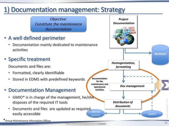 1) Documentation management: