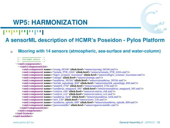 WP5: harmonization