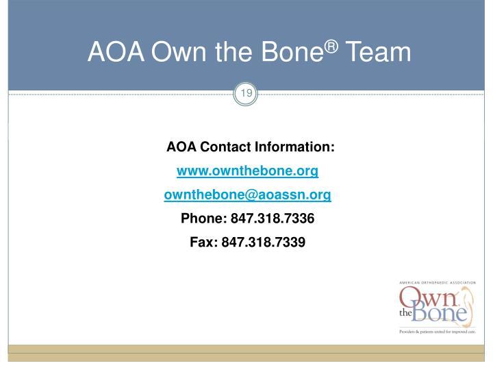 AOA Contact Information: