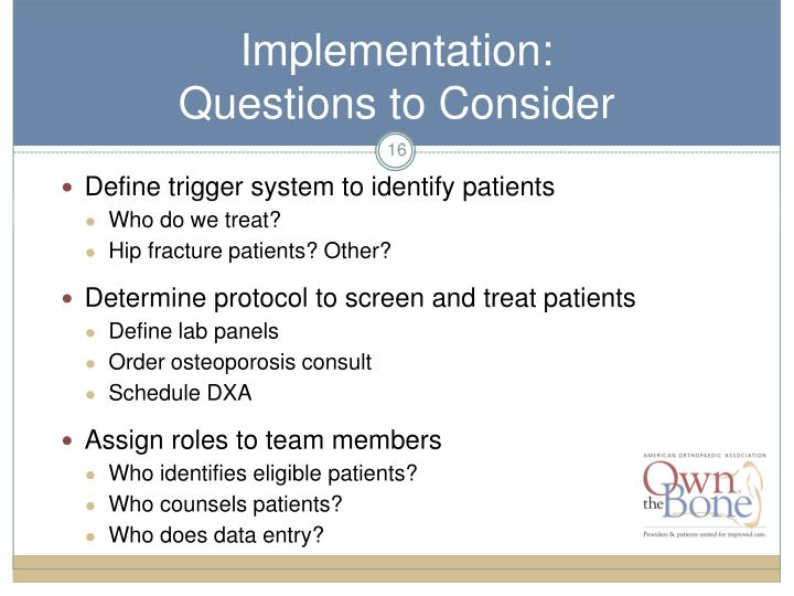 Define trigger system to identify patients