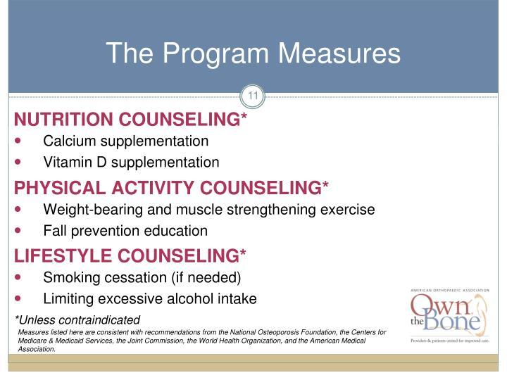 The Program Measures