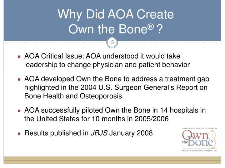 Why Did AOA Create