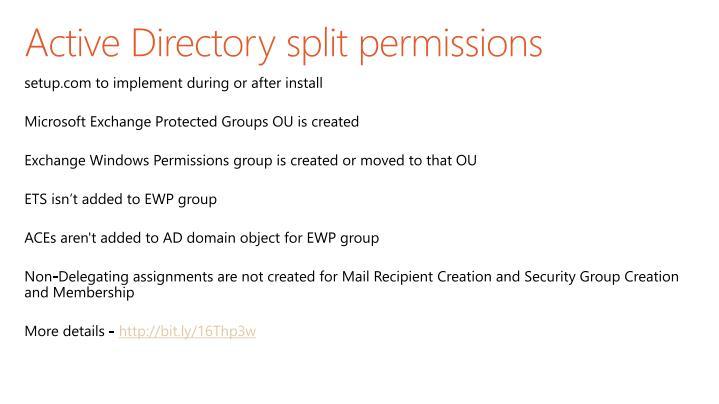Active Directory split permissions