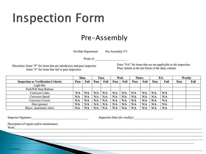 Inspection Form