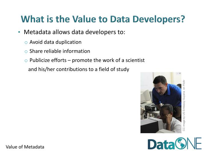 What is the Value to Data Developers?