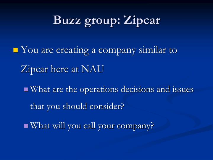 Buzz group: