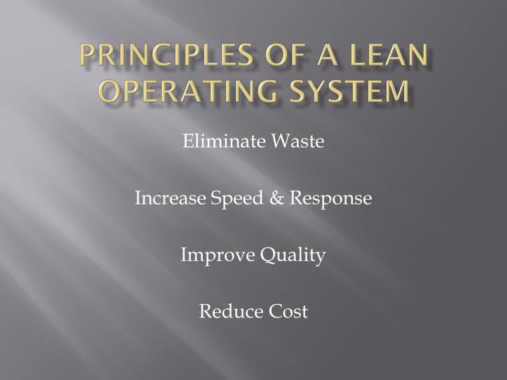 Principles of a Lean Operating System