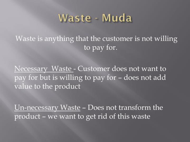 Waste -