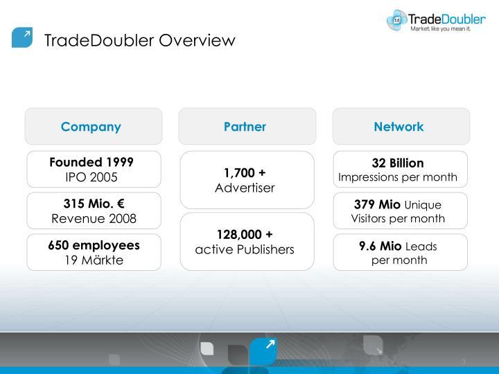 TradeDoubler Overview