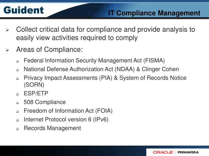 IT Compliance Management