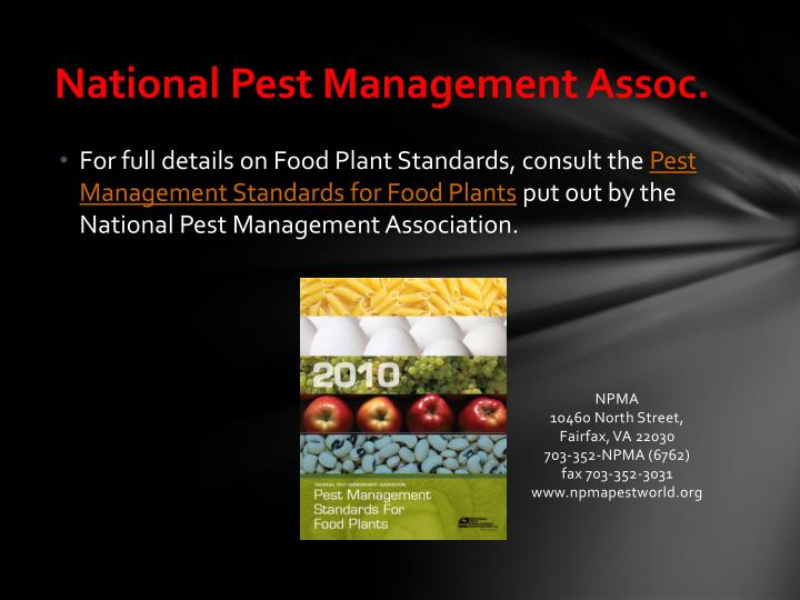 National Pest Management Assoc.