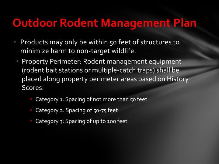 Outdoor Rodent Management Plan