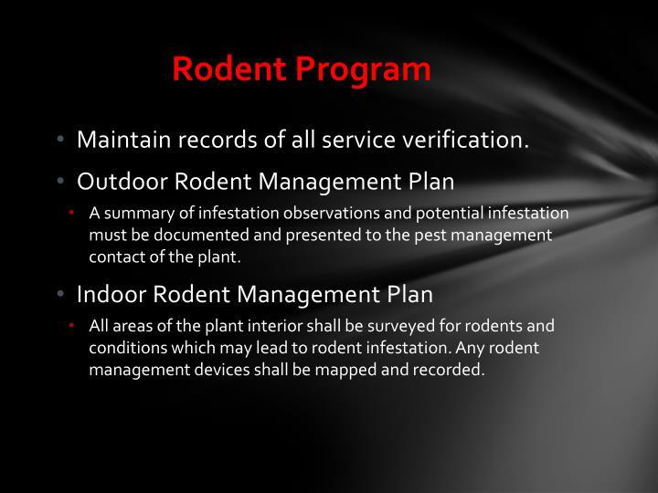 Rodent Program