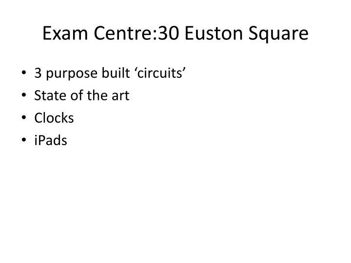 Exam Centre:30 Euston Square