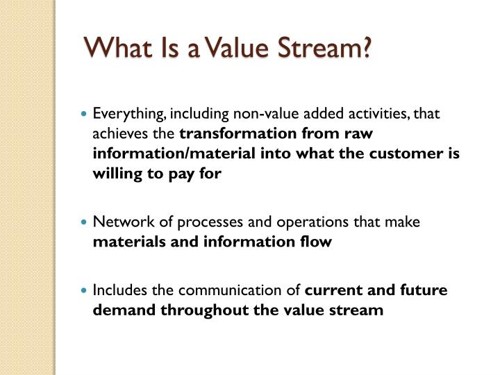 What Is a Value Stream?