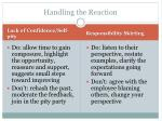 handling the reaction1