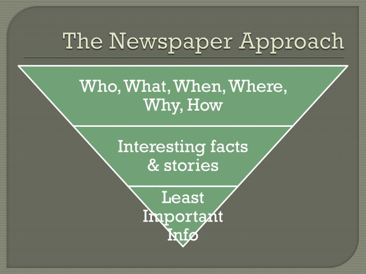 The Newspaper Approach