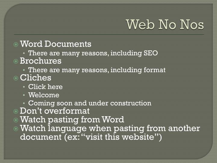 Web No