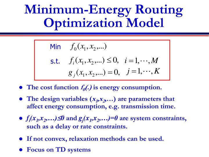 Minimum-Energy Routing