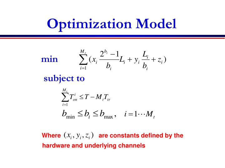 Optimization Model