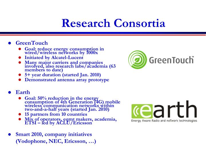 Research Consortia