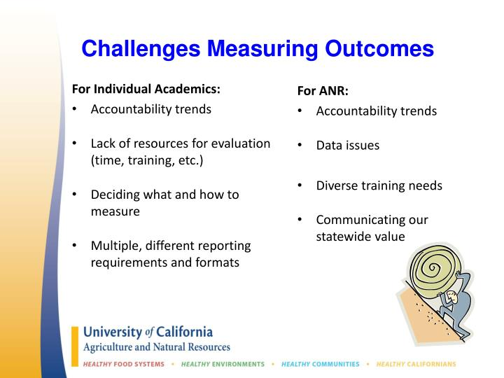Challenges Measuring Outcomes