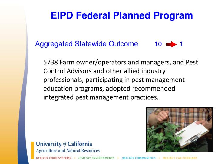 EIPD Federal Planned Program