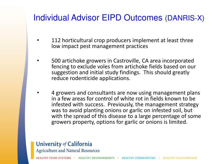 Individual Advisor EIPD Outcomes