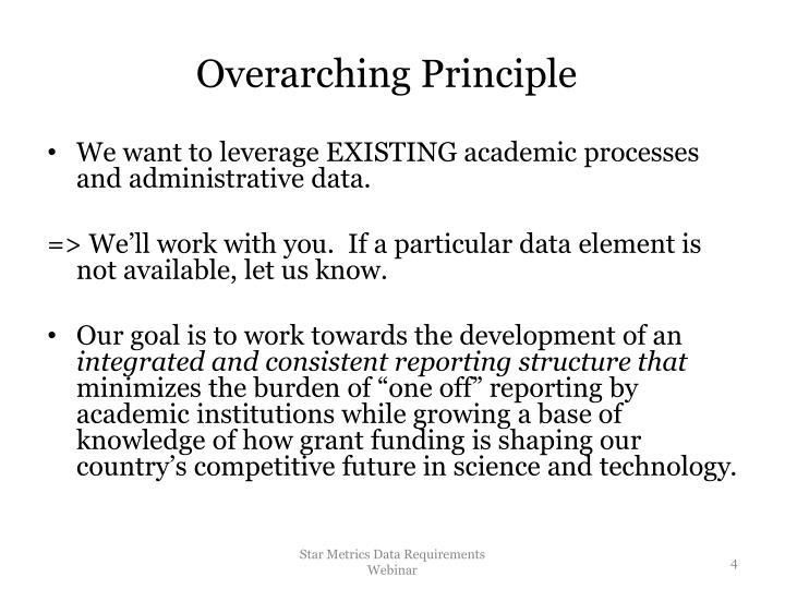 Overarching Principle