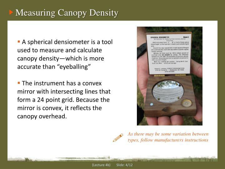 Measuring Canopy Density
