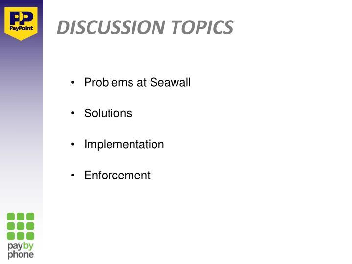 Problems at Seawall