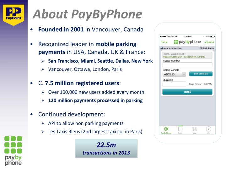 About PayByPhone