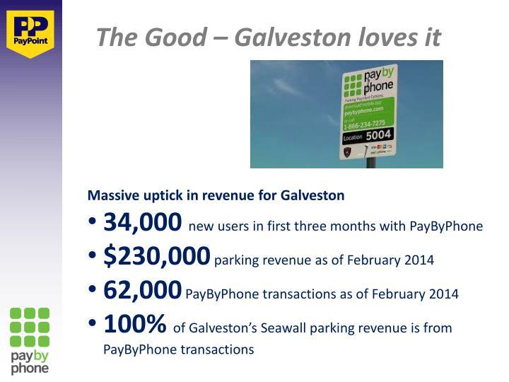 The Good – Galveston loves it