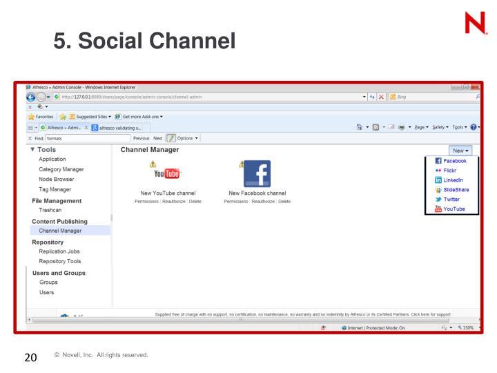 5. Social Channel
