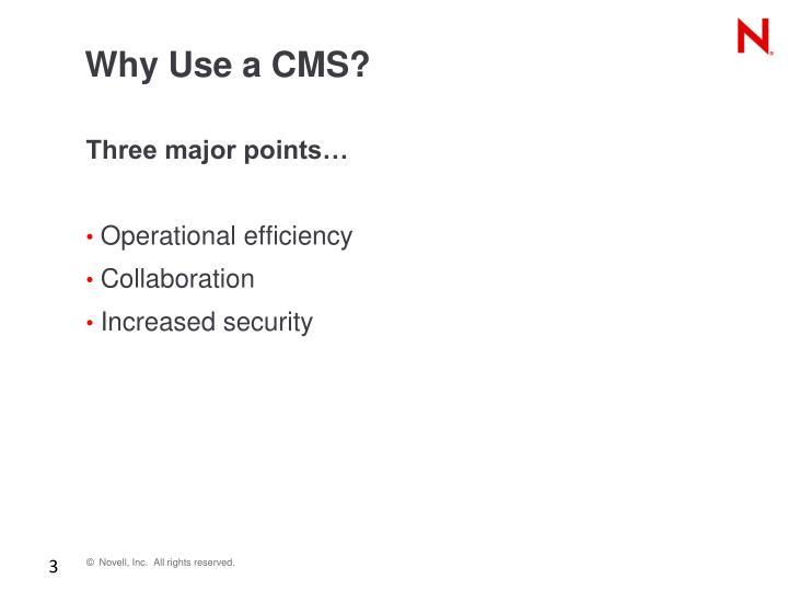 Why Use a CMS?