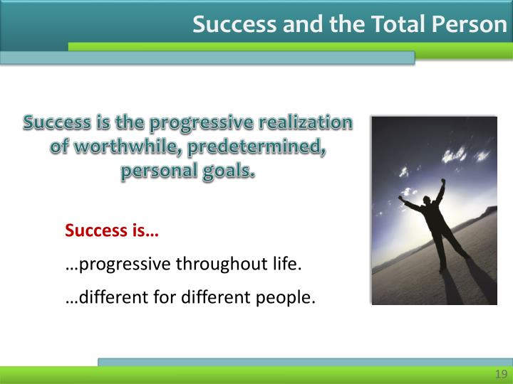 Success and the Total Person