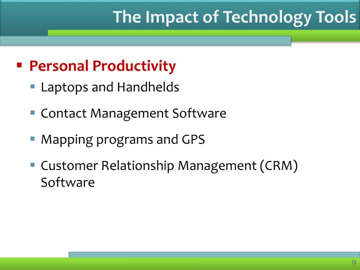 The Impact of Technology Tools