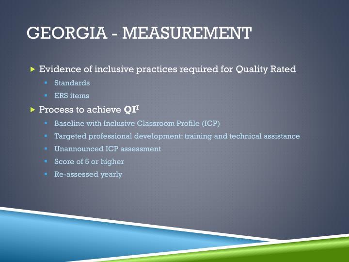 Georgia - Measurement