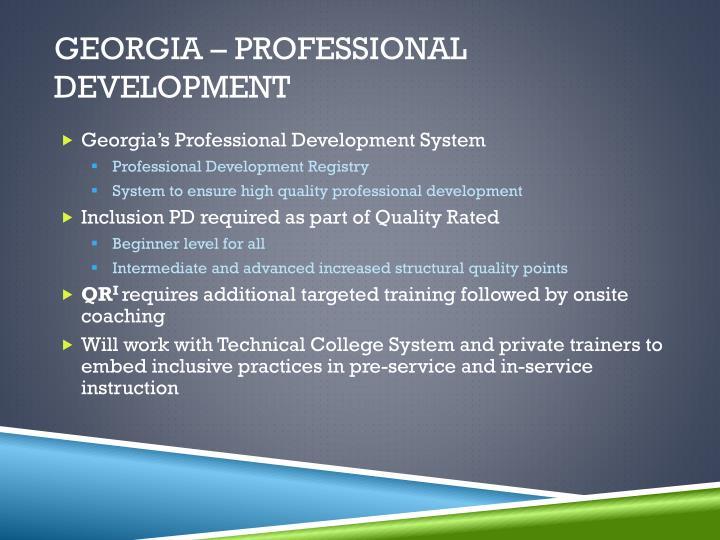 Georgia – Professional Development
